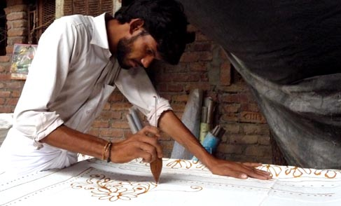 Bhairavgarh Batik wax drawing