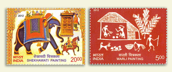 2012 stamps on handicrafts