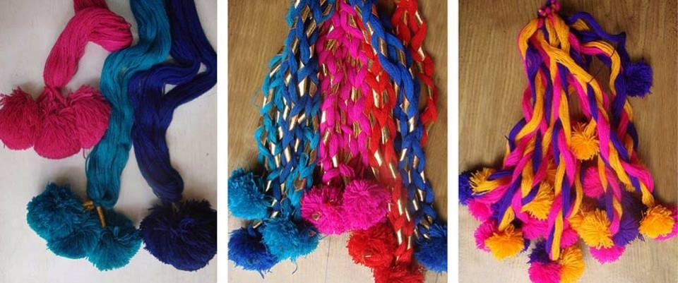 Parandi Making Craft Punjab India Gaatha ग थ Handicrafts