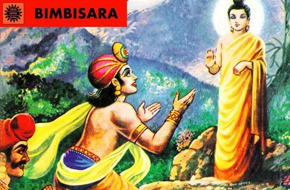 Bimbisara-king-and-Buddha
