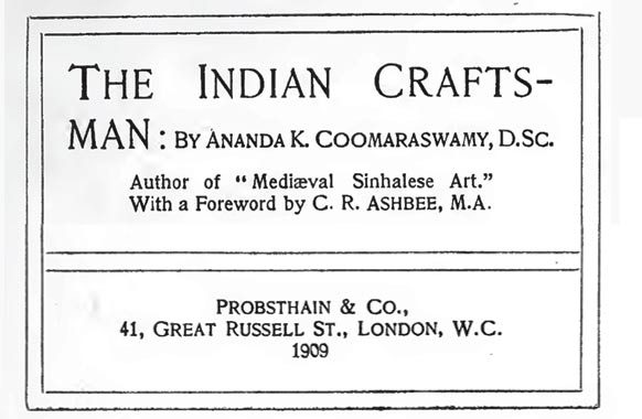 Book-on-Indian-Craftsmen