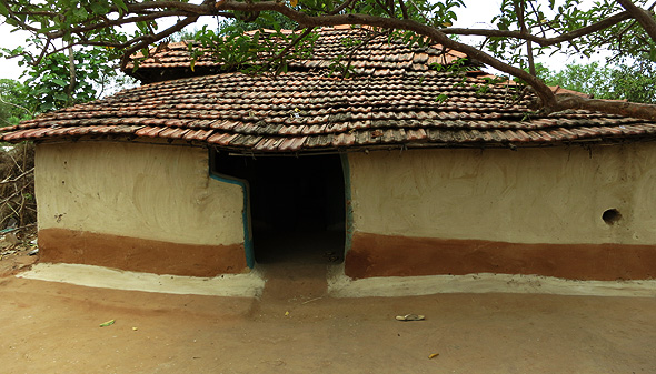 Mud-house-indian-village