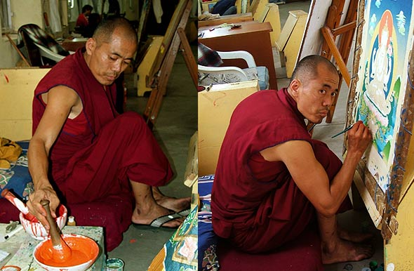 Thanka-Painting-Making-process