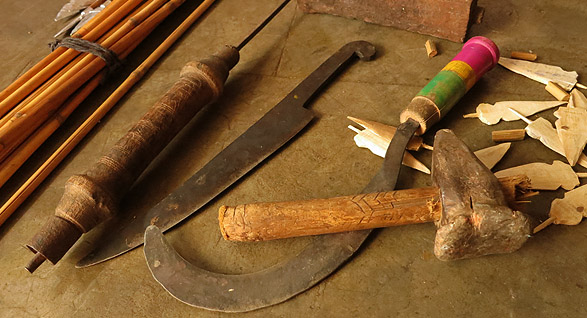Tools for making bow and arrow