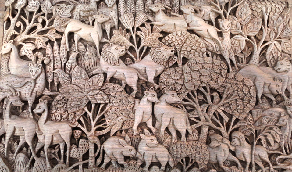 WOOD CARVING handicrafts-Aih
