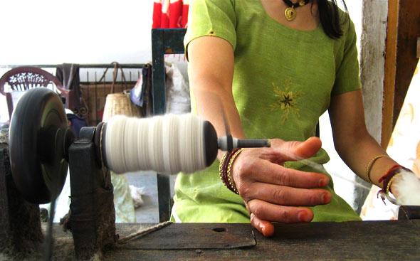 Wool-spining