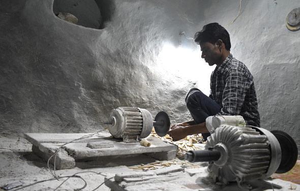 craftsmen bone carving, UP