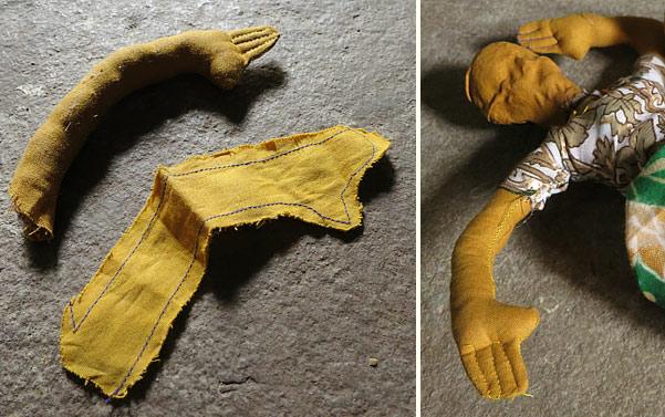 Steps of making jhabua dolls