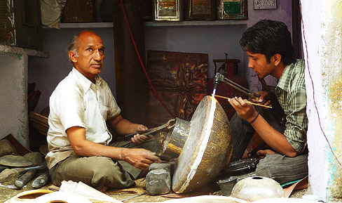 Brass Utensil making welding-Jaipur