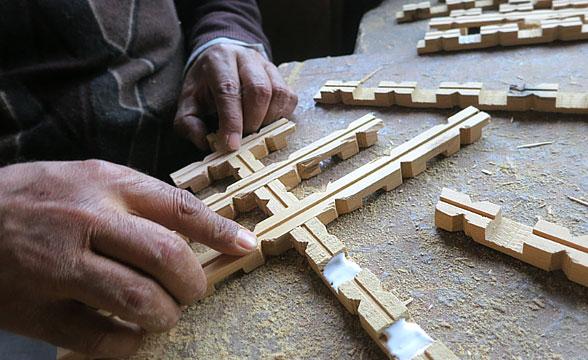 Pinjrakari-craft-making-process