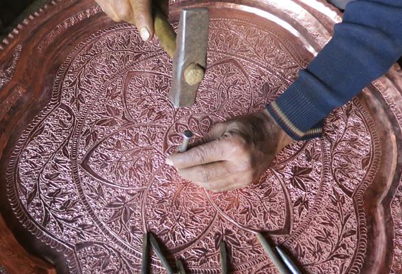 carving-on-copper-plate-kashmir