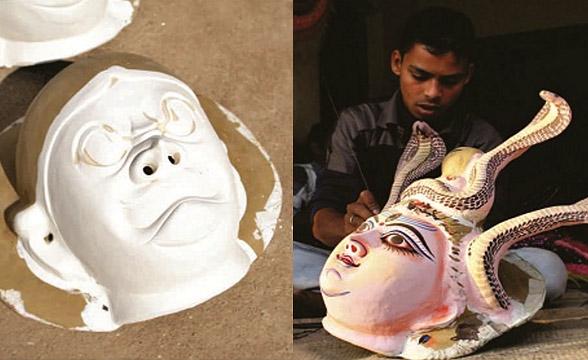 chau-mask-mould-making-process-painting