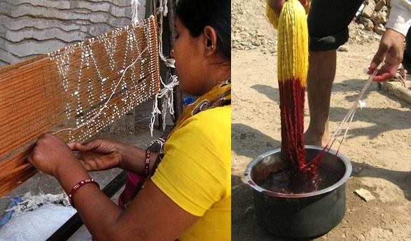 dyeing-patola-ikat-fabric