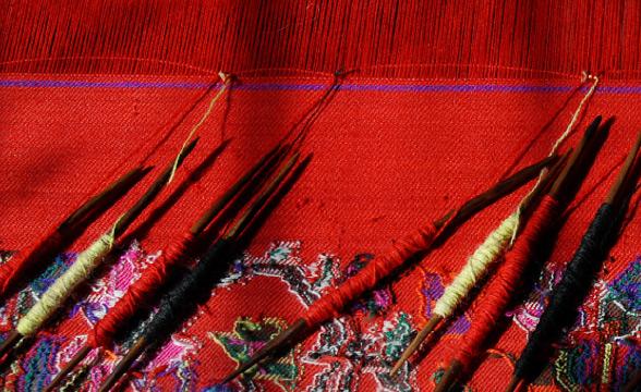 kaani-weaving-process
